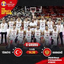 Türkiye Basketbol Federasyonu - FIBA 2019 Dünya Kupası (O Grubu) ⛹🏻♂  Türkiye 🇹🇷 - Karadağ 🇲🇪 📍 Dongguan Basketbol Merkezi 📺 @ntv ⏰ 14.30  #BizBirlikteyiz