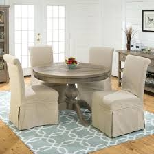 round table set mill pine slipcover chairs and round table set table setting template table setting round table