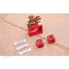 wooden perpetual calendar wooden advent calendar with date blocks novelty xmas stocking filler gift