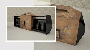 Objektmöbel Barschrank Modern Holz Metall