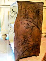 Wood Carving Dremel Dremel Carving On Nightstand Table Furniture With Flowers And Vine