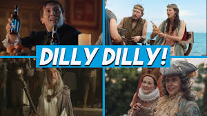 Cast Of Bud Light Dilly Dilly Commercial Funny Bud Light Beer Commercials Dilly Dilly