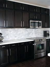 kitchen backsplash with dark cabinets kitchen with dark cabinets and white kitchen backsplash white cabinets dark countertop