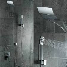 Free shipping new fashion square waterfall shower set wall mounted shower  faucet kit PB-304