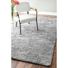 nuloom handmade solid soft plush rug 9 x 12 light grey area carpet