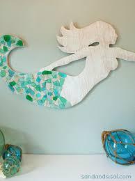 seaglass and cedar mermaid art sand