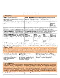 Formato De Plan De Clase Incluye Ejemplo De Planeacion