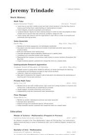 Tutor Resume Interesting Math Tutor Resume Free Resume Templates 28 Resume Templates Ideas