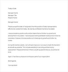 Letter Of Resignation 2 Weeks Notice Template Custom 48 Highly Professional Two Weeks Notice Letter Templates Opportunity