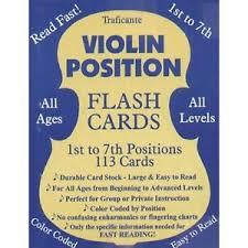 Details About Traficante Violin Flash Cards 1st Through 7th Positions