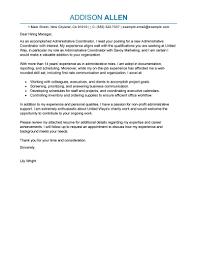 Cover Letter Design Sample Cover Letter For Program Coordinator
