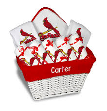 personalized st louis cardinals large gift basket