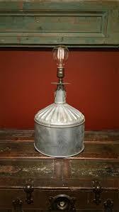 homemade lighting. One-of-a-kind Upcycled Repurposed Delphos Galvanized Funnel Homemade Lighting