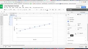 Linear Regression On Google Sheets