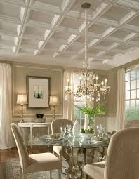 pastel coffered ceiling in the dining room