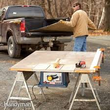 stunning folding table saw stand how to build a portable table saw table the family handyman