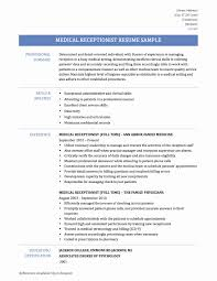 Medical Receptionist Resume Objective Awesome Resumes Receptionist