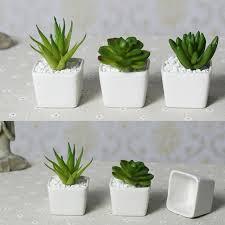 Beautiful Top Price Free Shipping Mini Indoor Ceramic Pots Plant White Ceramic  Handmade Crafts Home Christmas Wedding
