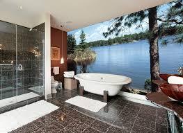 Examples Of Wall Murals Handpainted In Bathrooms And Powder RoomsBathroom Wallpaper Murals