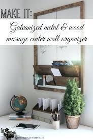 diy mail sorter office wall organizer message center tutorial diy mail sorter plans
