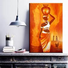 1 Panel Moderne Leinwand Kunst Abstrakte Afrikanische Frau Leinwand Bilder ölgemälde Für Wohnzimmer Schlafzimmer Dekoration Drucke Kein Rahmen
