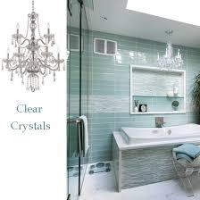 bathroom chandelier lighting ideas. traditional glamorous clear crystal chandelier over tub bathroom lighting ideas a