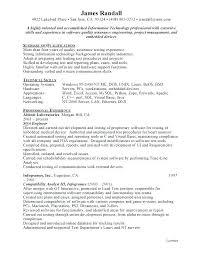 Quality Assurance Resume Sample Sample Resume Resume For Study