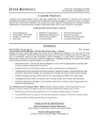 Human Resources Manager Resume Examples Samples Li Template Word