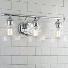 schoolhouse lighting bathroom modern ridged shade bath light 3 light schoolhouse electric bathroom lighting