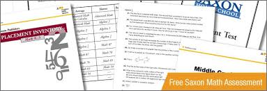 Saxon Math Program Saxon Math Placement Tests Sonlight