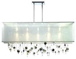 rectangular glass chandelier modern odeon fringe