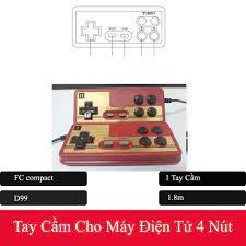 Giá bán Bộ 2 Tay Cầm Chơi Game Điện Tử 4 Nút 9 Lỗ cho máy game 8 bit - Fa