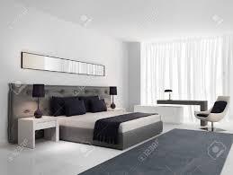 Luxus Schlafzimmer Mit Grauen Knöpfen Bett Lizenzfreie Fotos Bilder
