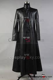 matrix neo long black leather coat