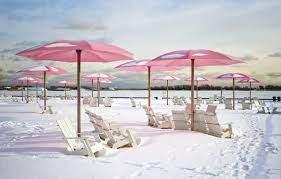 Wallpaper winter, beach, snow, chair ...