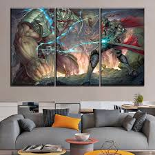 <b>3 Piece Armor Battle</b> Giant And Sword Warrior Duel Painting Modern ...