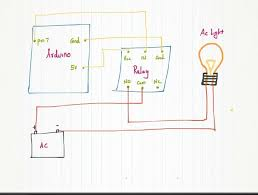 controlling ac light using arduino relay module 7 steps circuit diagram