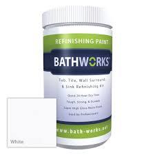 bathworks diy bathtub and tile refinishing kit with non slip protection white com