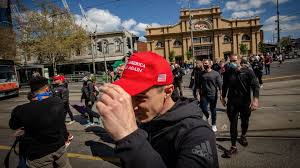 Police monitor the protest at flinders street station in melbourne's cbd. Coronavirus Lockdown Protest Arrests In Melbourne Australia Axios