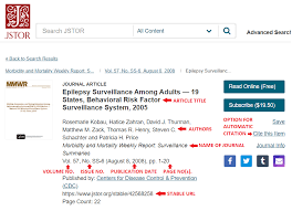 Citing A Journal Article In Apa Style In Text Citation Bibliography