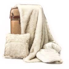 posh pelts posh pelts elegant faux fur throws chinchilla