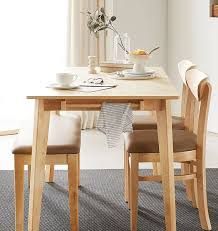 4 people rubber wood dining table set
