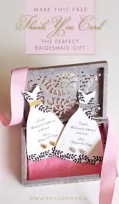020 Wedding Gift Card Template Free Bridesmaid Thank You