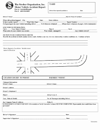 017 Accident Report Forms Template Awesome Incident Form Dmv