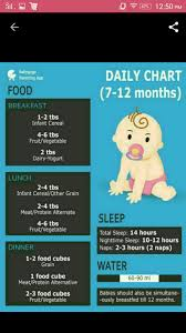 Hi Give Me Some Food Chart For 7 To 10 Month Old Baby