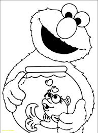 Elmo Coloriages With Elmo And Cookie Monster Coloring Pages To Print