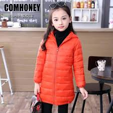 light winter coat down jacket for girls boys 4 thin hooded children long parkas warm baby light winter coat