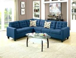 blue leather sectional sofa couch navy sofas midnight royal