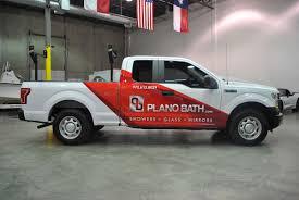 plano bath f150 partial truck wrap