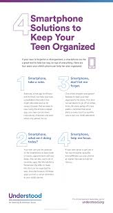 keep your teen organized apps for organization graphic of 4 smartphone solutions to keep your teen organized